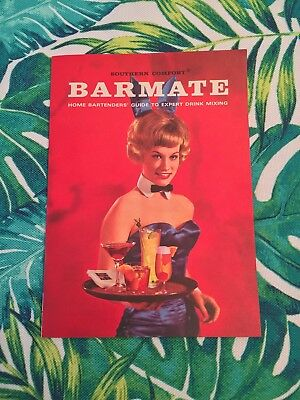 Vintage 1964 Ad Promo Booklet PLAYBOY BARMATE - SOUTHERN COMFORT Liquor RECIPES
