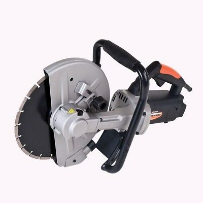 Corded Portable Concrete Saw Power Tool 15-Amp Speed Motor 12-Inch Disc Cutter