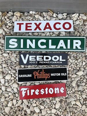 Antique Vintage Style Gas Oil Signs Texaco Sinclair Phillips Firestone Veedol