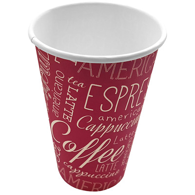 1000 12oz Rosa Vending Paper Coffee Cups with free delivery