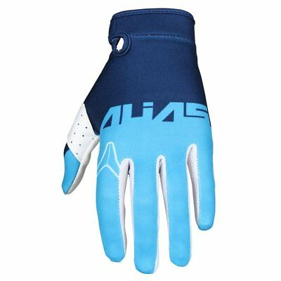 Alias Aka Lite Classic Mx - Motocross - Enduro - Dirt Biker Gloves Navy/Cyan