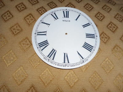 For American Clocks- Round Welch Paper Clock Dial -126mm M/T- Roman-Clock Parts