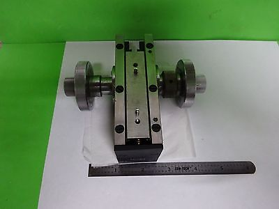 Microscope Part Zeiss Germany Micrometer Stage Brass Heavy As Is Bin#y7-03