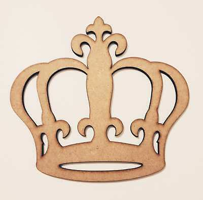 Wooden MDF Crown shape Embellishment craft Blank Princess various sizes qty E320