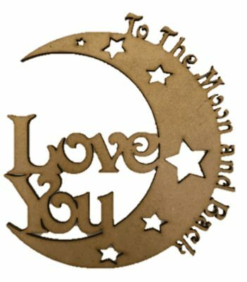 Mdf Wooden DreamCatcher Love You to The Moon and Back S