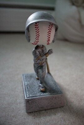 "Baseball Bobblehead Trophy, Good Condition, 5.5"" Tall, No Name Plaque, FREE SHIP"