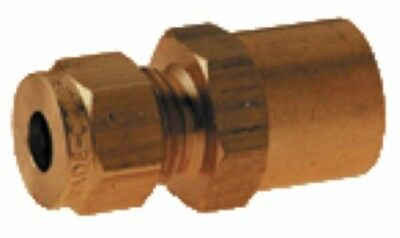Wade Brass Compression Fitting – Metric BSPP Female Gauge Adaptor