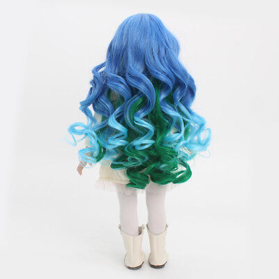 High-temperature Wire Curly Hair Wig for 18'' American Girl Dolls Gradient