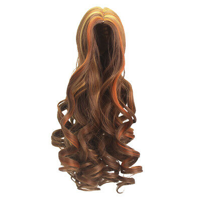 Fashion Brown Roman Curly Hair Wig for 18'' American Girl Dolls DIY Repair