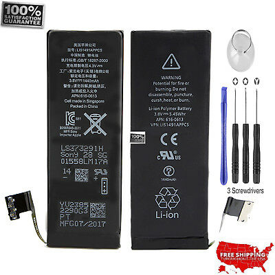 NEW OEM Original Battery Replacement 1560mAh w/ Flex cable For iPhone 5 + Tools