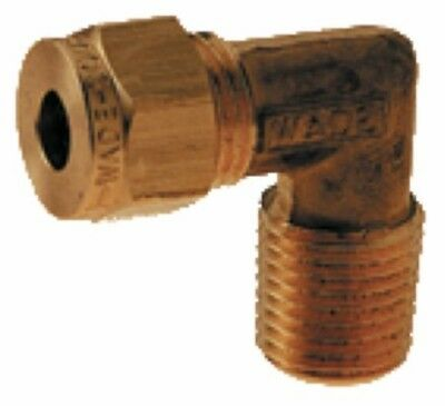 Wade Brass Compression Fitting – Metric BSPT Male Stud Elbow
