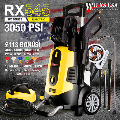 Electric Pressure Washer 3050 PSI / 210 BAR Power Patio Jet Cleaner ~ WILKS-USA