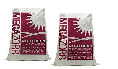 2 x Megazorb Bedding 85lt Bale For Bedding Rats, Chickens & Small Animals