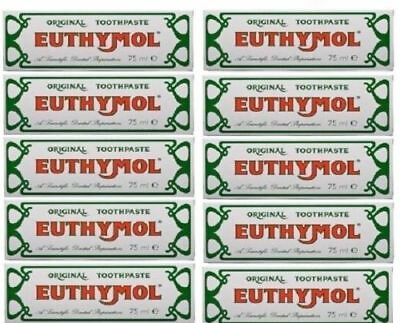 10 x Euthymol Original Toothpaste 75ml