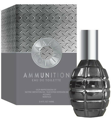 Ammunition Cologne 3.4 fl oz EDT For Men Our Impression Of Azzaro Wanted Spray