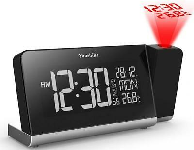 Youshiko Radio Control Projection Clock ( UK Version ) with Colour Changing...
