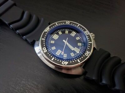 Vintage 6105 Sterile rotating Japan NH35A 20 atm Men Dive Automatic Watch