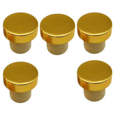 5Pcs Silicon Stopper Red Wine Beer Bottle Plugs Sealing Cap Bar Tools Golden