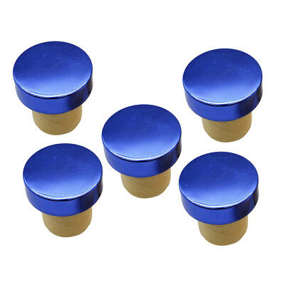 5Pcs Silicon Stopper Red Wine Beer Bottle Plugs Sealing Cap Bar Tools Blue
