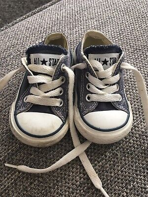 Navy Blue Converse Trainers Size 3 UK Inf