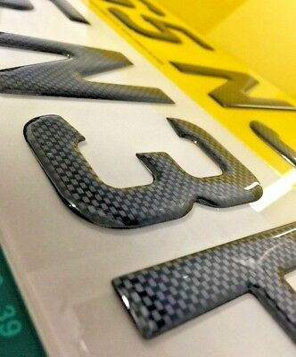 carbon gel plates pair road legal resin domed raised carbon number plates