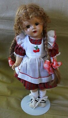 Antique Vintage Composition Madame Alexander doll McGuffey Anna 15.5""