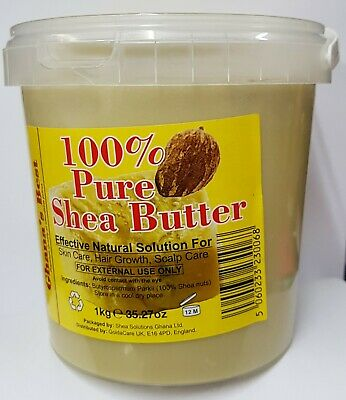 Ghana's Best Easy Melt Shea Butter 100% PURE - WHITE 180g/280g/375g/1kg