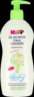 HiPP Baby Body & Hair Gel Sensitive From 1 Year Soap Free 400ml