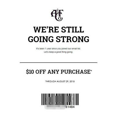 AF A&F Abercrombie & Fitch $10 OFF Discount Promo Code (*SALE & CLEARANCE*)