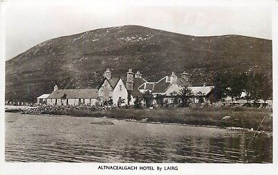 ALTNACEALGACH HOTEL BY LAIRG ~ AN OLD REAL PHOTO POSTCARD  7y21