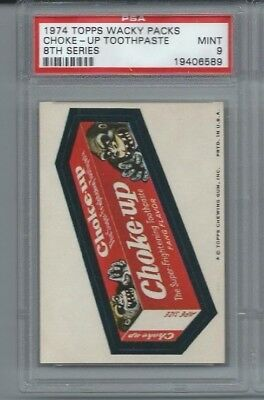 Wacky Packages Series 8 Choke Up Toothpaste Psa 9 Mint