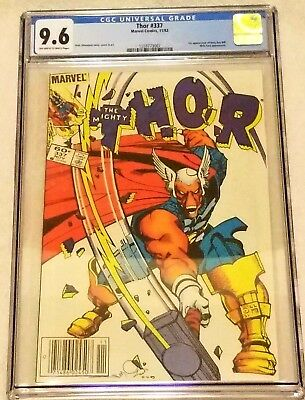 Thor #337 Newsstand CGC 9.6 NM+ 1st Appearance of Beta Ray Bill Marvel 1983