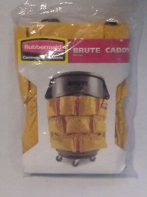 NEW Rubbermaid Heavy Duty Brute Round Container Caddy Janitorial Bag, FREE SHIP