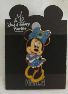 NEW DISNEY PIN ~ Minnie Mouse March Birthstone Pin ~ Aquamarine ~ Pin #4165