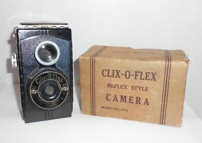 Vintage Clix-O-Flex Metropolitan Industries Chicago Reflex Camera and Box