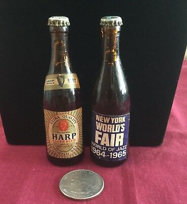 2 Orig 1964-65 New York World's Fair HARP Mini BEER World of JAZZ Unisphere NYWF