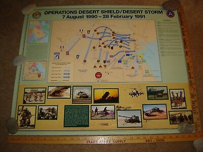 "Operation Desert Storm Desert Shield (1990-1991) Poster 24"" x 30"""
