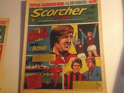 1973 Scorcher And Score Comic John Bond Of Bournemouth On The Cover