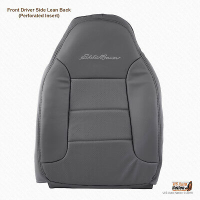 1995 1996 Ford Bronco Eddie Bauer Front Driver Top Synth Leather Cover In GRAY
