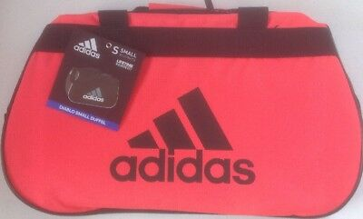 c2a7d1b0ce8e Adidas Diablo Small Duffel Bag Gym Bag Shock Red and Black NWT 5142567