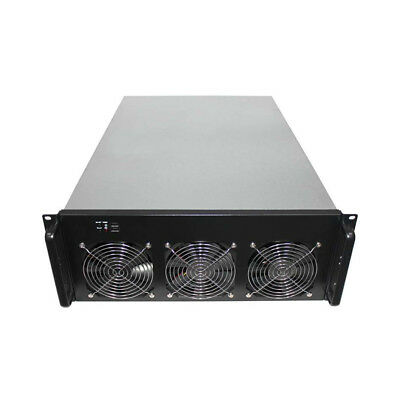 Crypto Coin Server Case Graphic Card Mining + 6 Fans For 6-8 GPU ETH BTC BTG SC