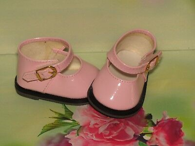 Shoes To Fit The American Galoob Baby Face Girl Pink Shiny Maryjane