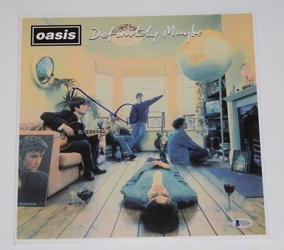 Noel Gallagher Signed Autographed Oasis DEFINITELY MAYBE Record Album BAS COA