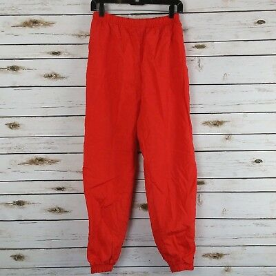 Vintage 80s Sergio Tacchini Womens 8 Track Pants Joggers Windbreaker Lined Red