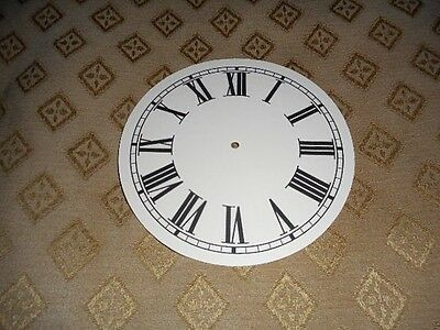 "Round Paper Clock Dial - 4"" M/T -  Roman - Matt Cream - Face/Clock Parts"