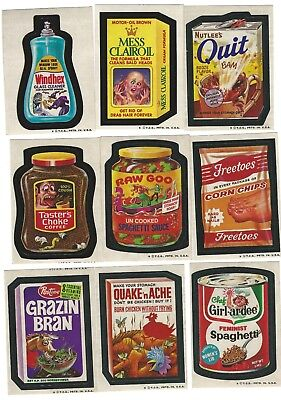 1973 Wacky Packages Series 4 set of 30 with 8/9 of Puzzle set