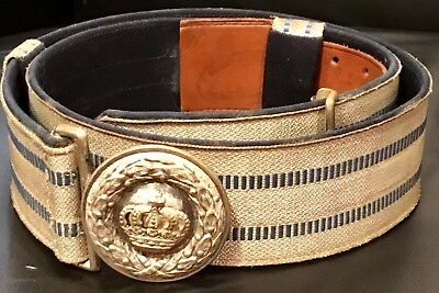 Imperial German, WW 1, Officer's Brocade Dress Belt & Buckle, Kingdom of Bavaria