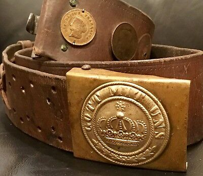 Franco-Prussian War-WW 1-Souvenir/Hate Belt with 3 Coins, Kingdom of Prussia