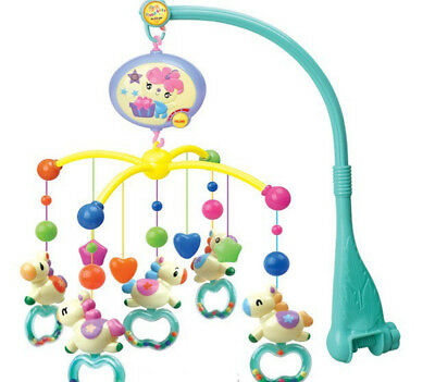 Baby Musical Cot Mobile Crib Bed  Nusery Lullaby Toy 360-degree Rotatable