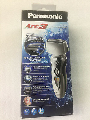 Panasonic Arc3 Electric Shaver Wet/Dry with Nanotech Blades ES8103S for face